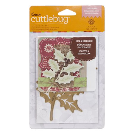 Anna Griffin Scrapbook Pages (Cricut Holly Sprig 3.75
