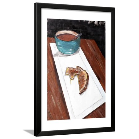 Grilled Cheese And Tomato Soup Framed Print Wall Art By Ann Tygett Jones