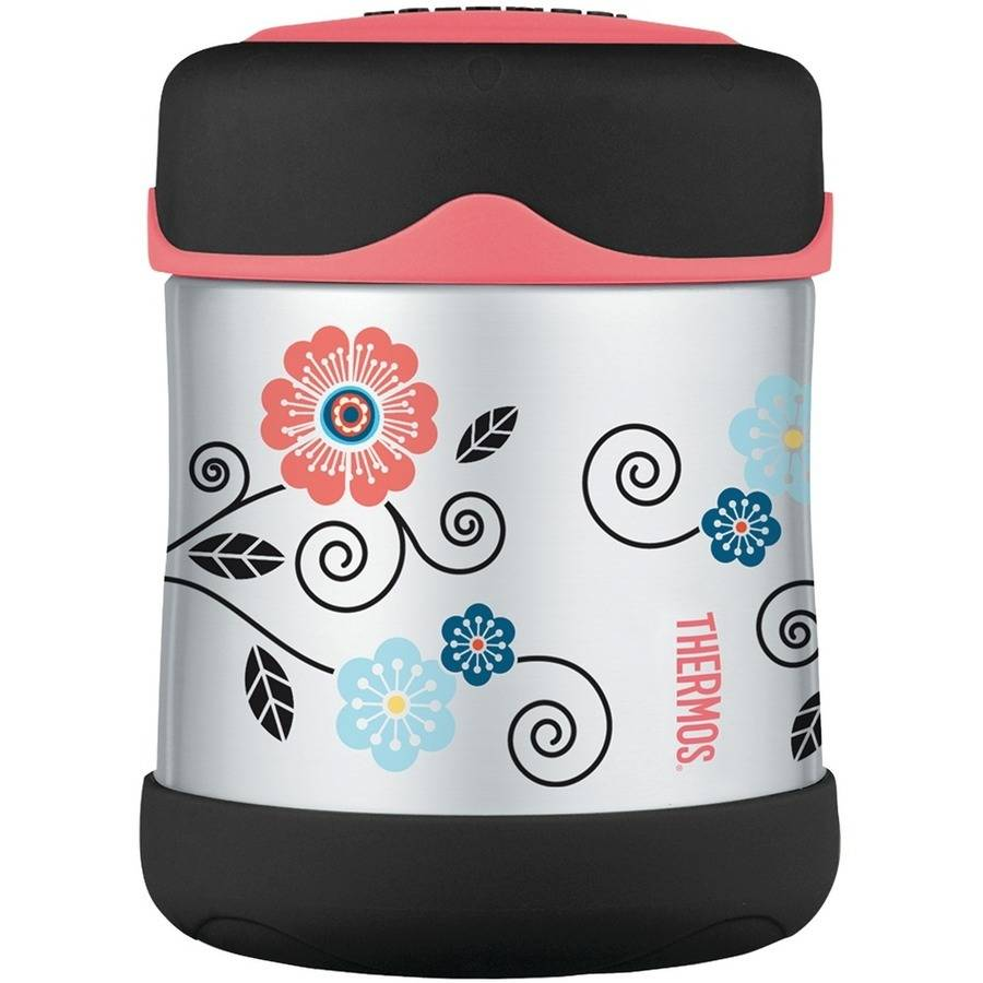 Thermos B3002PP2 Foogo Poppy Patch Leakproof Food Jar