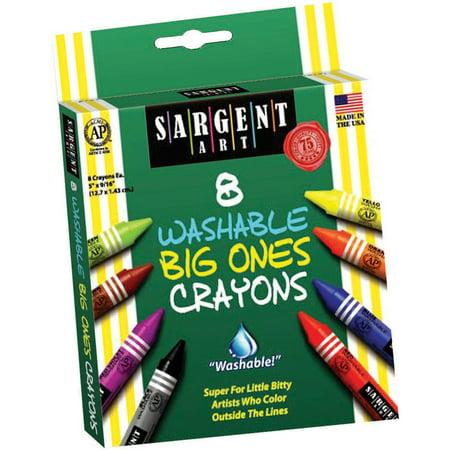 Sargent Art Washable Big Ones Crayons-8/Pkg](Big Crayons)