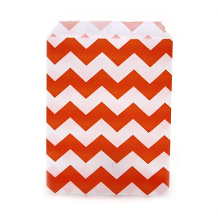 Dress My Cupcake 24-Pack Party Favor Bags, Chevron, Orange - Orange Velvet Cupcakes Halloween