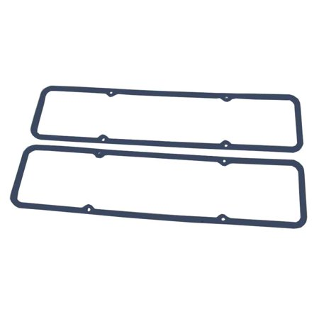 Blue Rubber Valve Cover Gasket Set NW/Steel Core For Early SBC Valve (New Rubber Core)