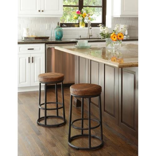 Kosas Home Willow Reclaimed Wood And Iron 24 Inch Backless
