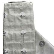 "54"" x 5 Yards Silver Sequin Taffeta Fabric By The Yard"