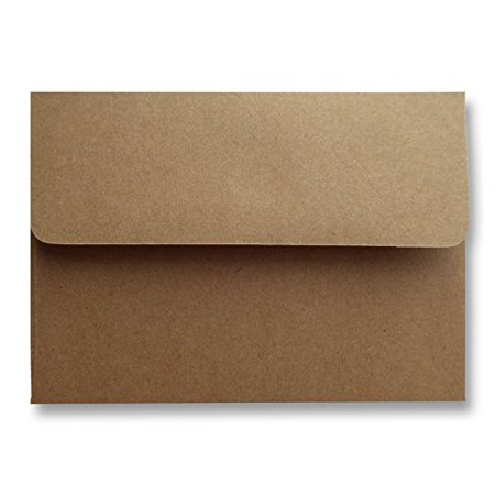 Wedding Shower Invitation Cards - Shipped Free 250 Boxed Kraft Grocery Bag Brown A7 (5-1/4 x 7-1/4) 70lb Envelopes for 5