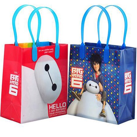 Big Gift Bags (Disney Big Hero 12 Reusable Party Favors Small Goodie Gift Bags)