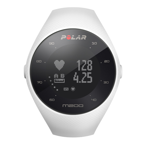 Polar M200 GPS Running White Waterproof Watch With Optical Heart Rate Measurement & Sleep Tracker