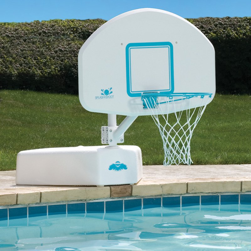 Splash & Shoot Swimming Pool Basketball Hoop with Stainless Steel Rim