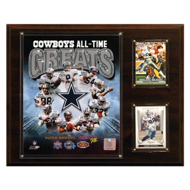 C & I Collectables 1215COWBOYSGR NFL 12 X 15 Dallas Cowboys All-Time Greats Photo Plaque