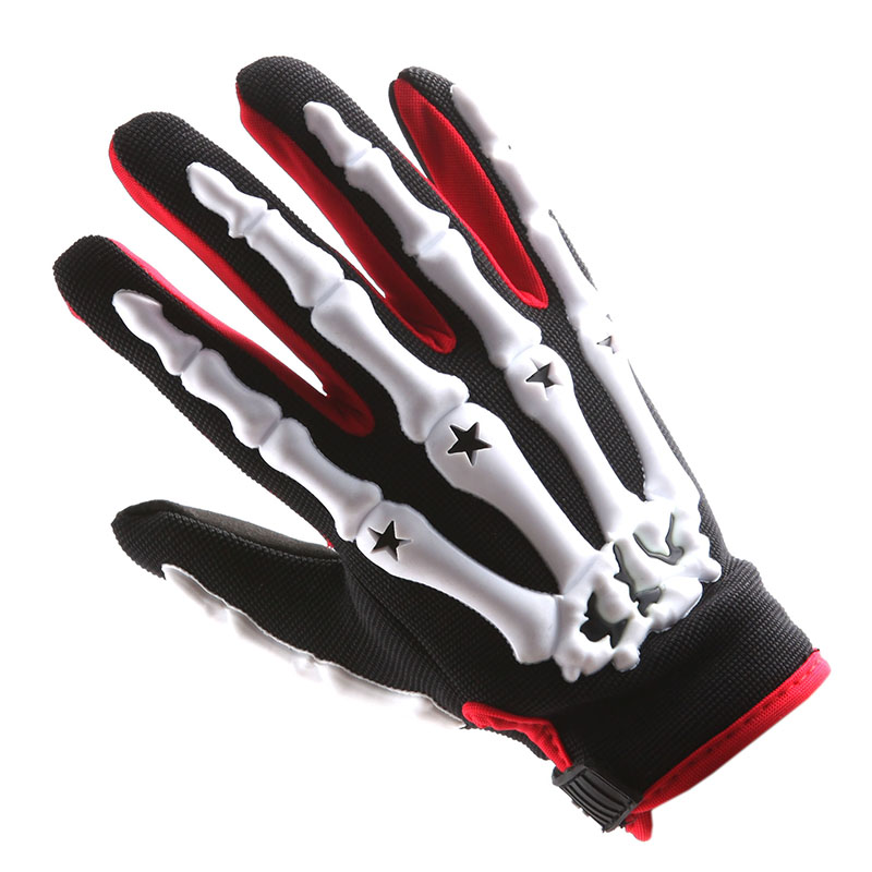 Motocross Motorcycle BMX MX ATV Dirt Bike Bicycle Skeleton Gloves Green