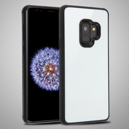 Samsung Galaxy S9 Case, by Insten Fusion Dual Layer [Shock Absorbing] Hybrid Tempered Glass/TPU Case Cover For Samsung Galaxy S9, White/Black - image 5 of 5