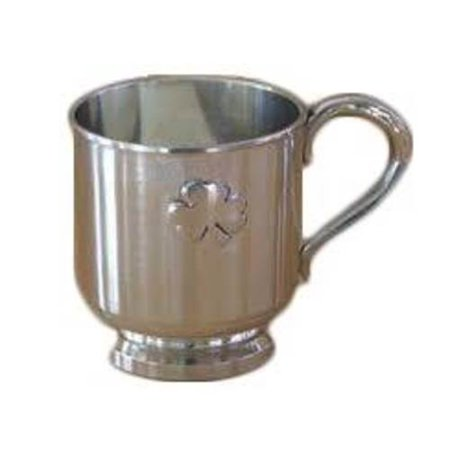 Pewter Christening Cup - Mullingar Pewter Shamrock Baby Cup