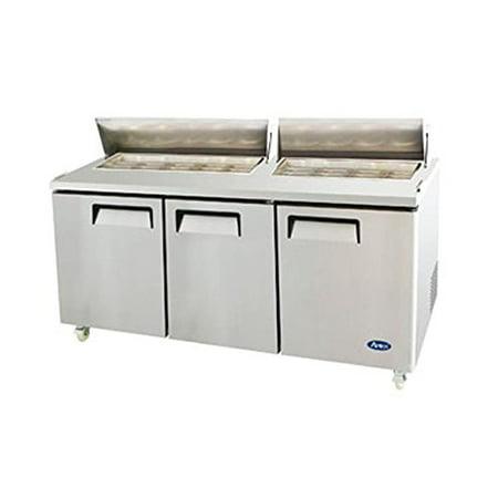Atosa Usa Msf8304 Stainless Steel Sandwich Salad Prep Table 72 Inch Three Door Refrigerator