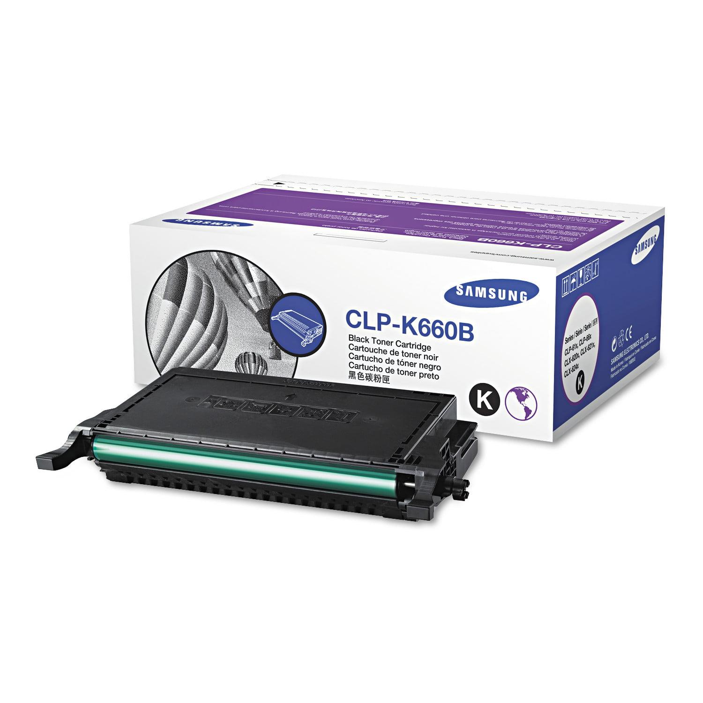 Samsung CLP-K660B (ST907A) High-Yield Toner, 5500 Page-Yield, Black