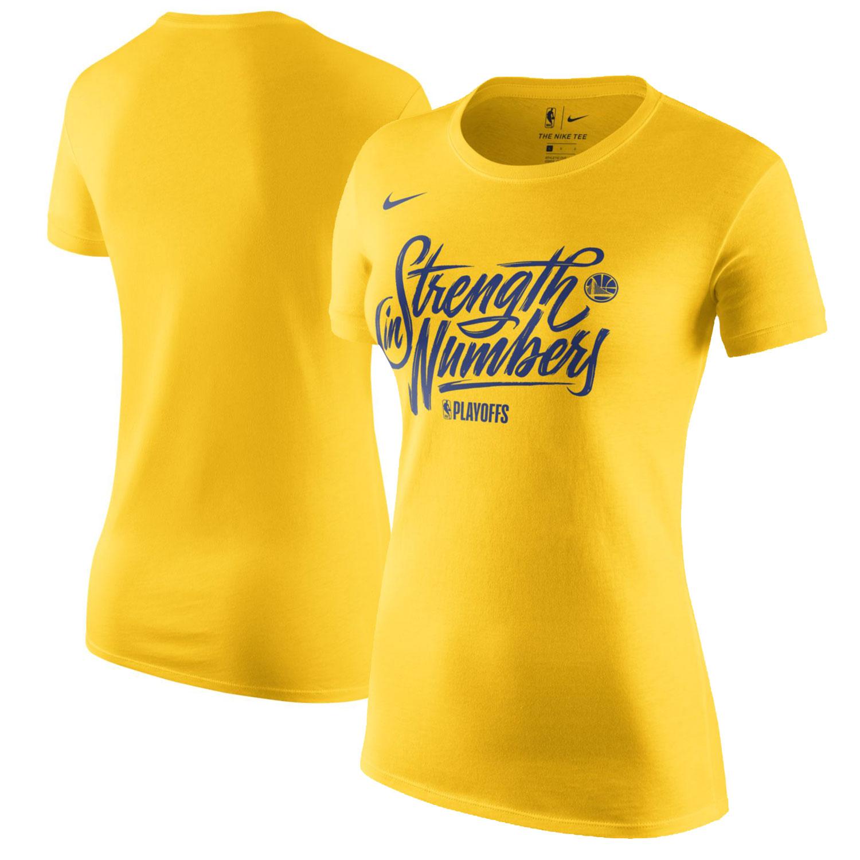 Golden State Warriors Nike Women's NBA Playoffs Mantra Legend Dri-FIT Cotton T-Shirt - Gold