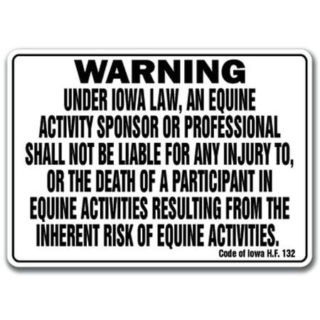- Equine  Sign warning statute horse farm