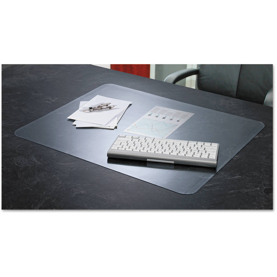 "Artistic KrystalView Desk Pad with Microban, Glossy, 38"" x 24"", Clear"