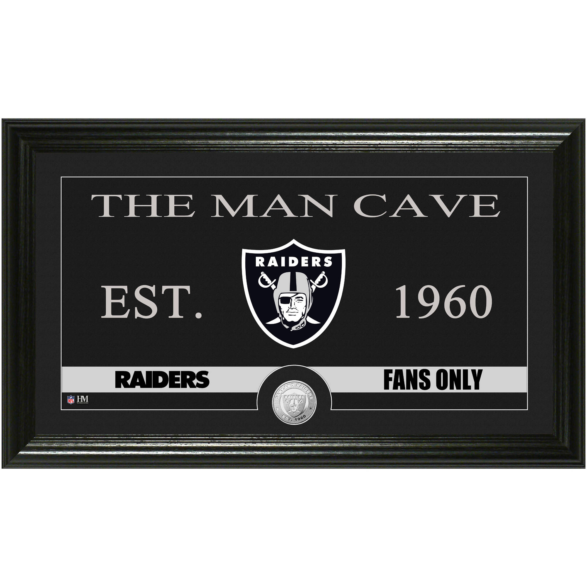 The Highland Mint NFL Man Cave Bronze Coin Panoramic Photo Mint, Oakland Raiders