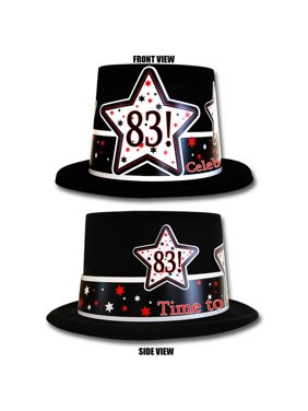 Partypro TQP-4008 83Rd Birthday Time To Celebrate Top Hat