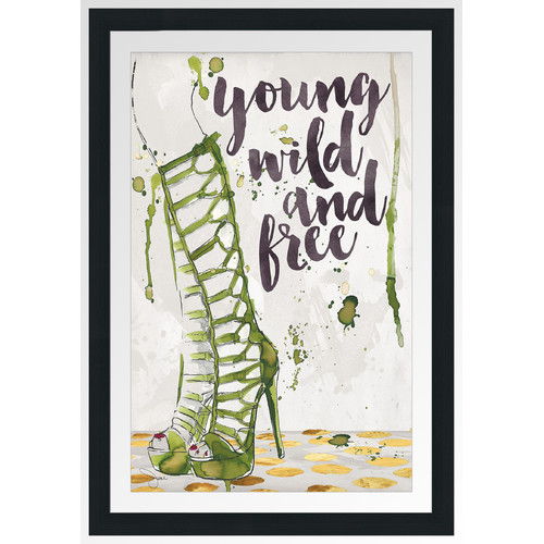 Picture Perfect International 'Wild And Free' by BY Jodi Framed Graphic Art
