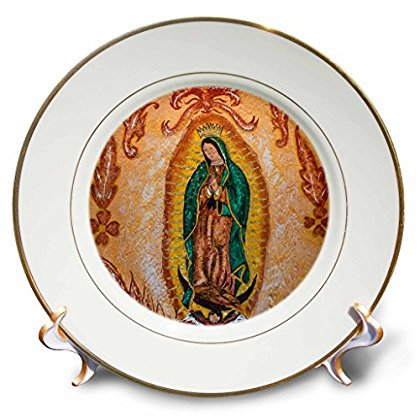 3dRose Mexico, San Miguel de Allende. Painting of Our Lady of Guadalupe. , Porcelain Plate, 8-inch - Porcelain Painting