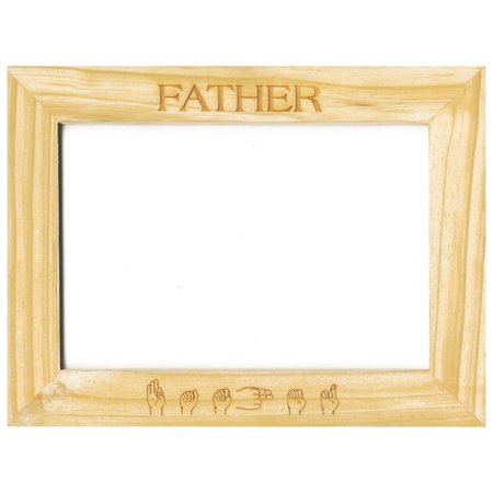 Custom-Made Pinewood Picture Frames - Father - Walmart.com