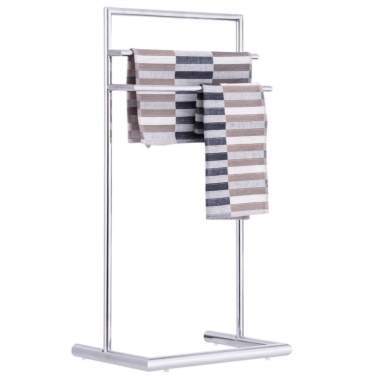 Goplus 3 Tier Free Standing Metal Towel Rack Holder Floor Stand Bathroom Organizer by Goplus