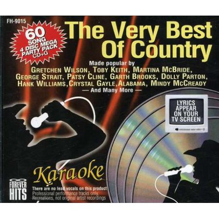 The Very Best of Country Karaoke CDG 4 Disc Set 60 Songs - Best Halloween Songs For Adults