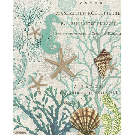 Portfolio Canvas Decor Coastal Collage I by Corinne Haig Graphic Art on Wrapped Canvas (Set of 2)
