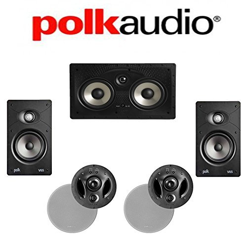 Polk Audio 700-LS + Polk Audio V65 + Polk Audio 255C-RT 5.0 Vanishing In-Wall   In-Ceiling Home Theater System by Polk Audio