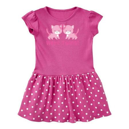 Twin Girl Kittens Toddler Dress