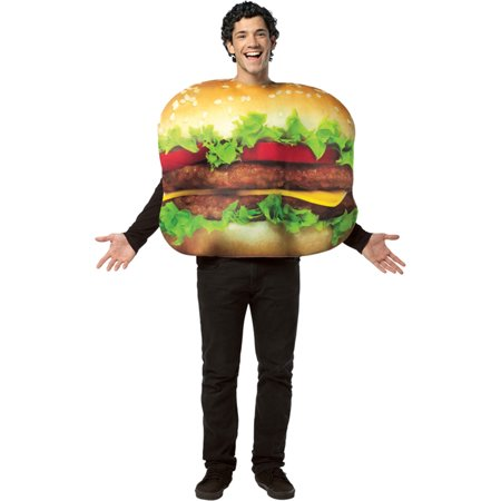 Morris Costumes Adult Unisex Printed Cheeseburger Costume One Size, Style GC7084](Cheese Burger Costume)