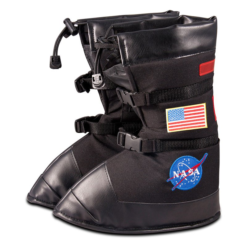 Jr. Astronaut Black Space Boots