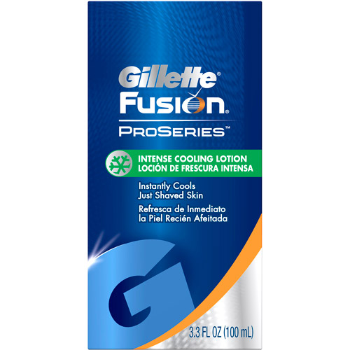 Gillette Fusion ProSeries, Toiletries, Intense Cooling Lotion, 3.3oz