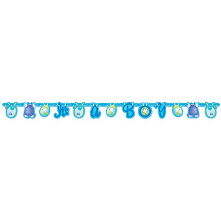 Clothesline It's a Boy Baby Shower Banner, 5 ft, Blue,