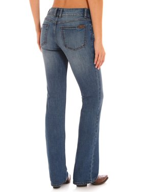 e89a089df9c Product Image Wrangler Women s Retro Indigo Clean Pocket Mae Jeans Boot Cut  - 09Mwzrp