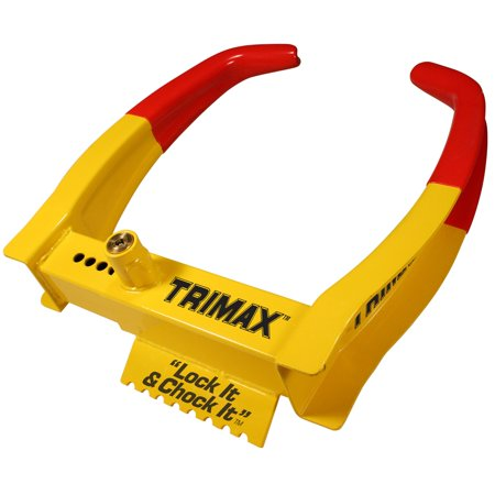 TCL75 Deluxe Universal Wheel Chock Lock-Yellow/Red