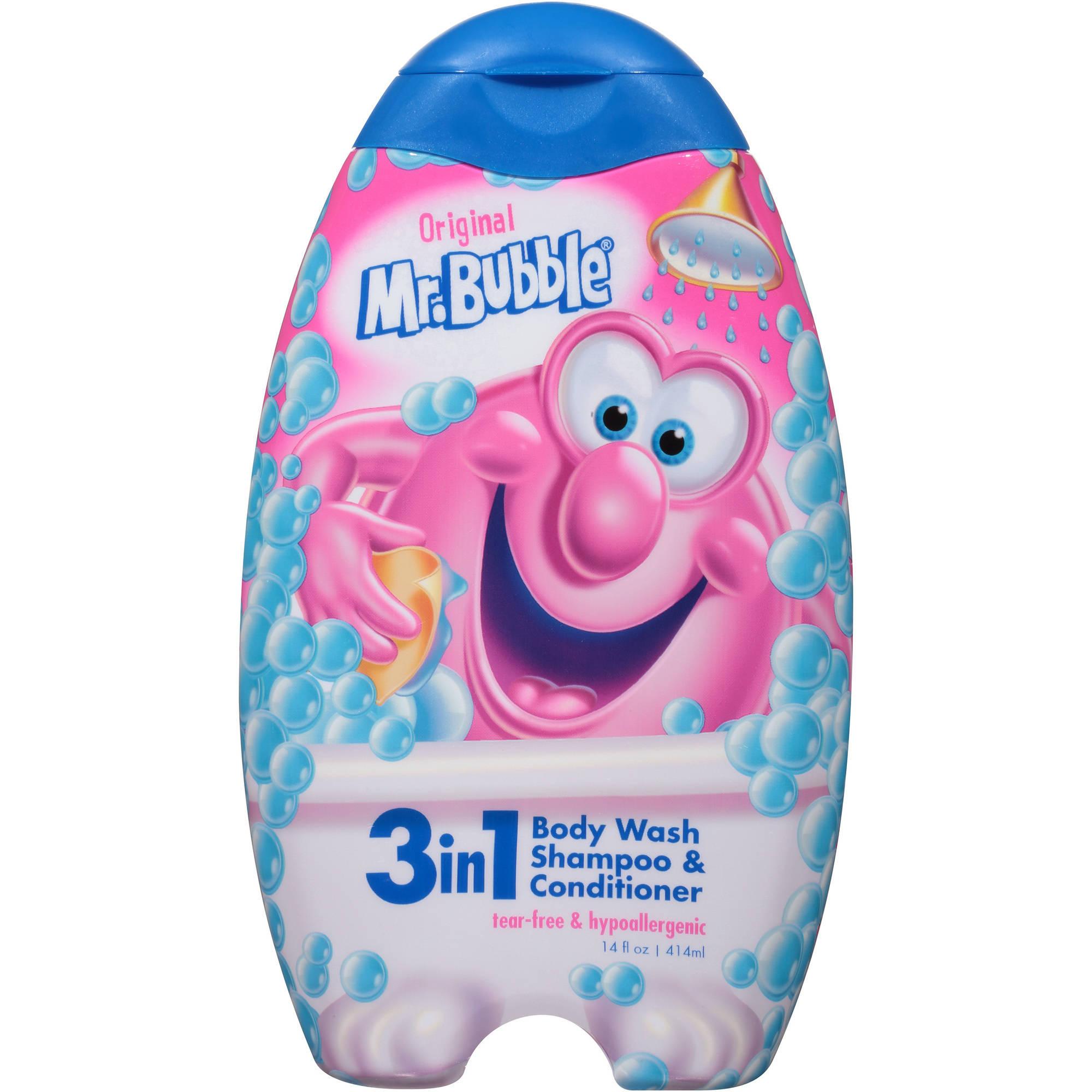 Mr. Bubble Original 3-in-1 Body Wash, Shampoo & Conditioner, 14 fl oz