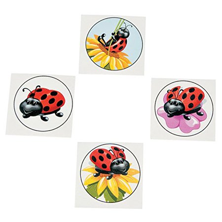 Lady Bug Tattoos (Ladybugs Temporary Tattoo 72 Piece Value)