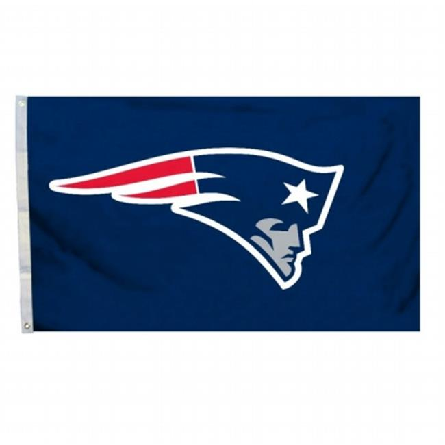 Fremont Die 94911B 3 Ft.  X 5 Ft.  Flag with Grommetts - New England Patriots