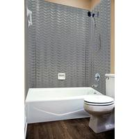 MirroFlex Tub and Shower Surround - Wavation in Galvanized