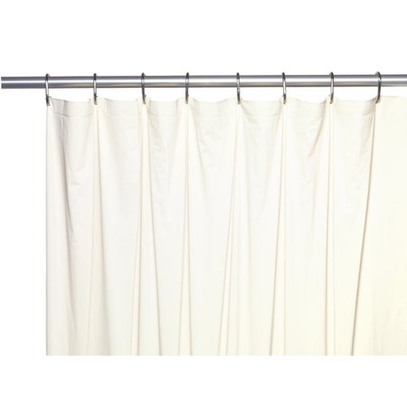 Extra Long 5 Gauge Vinyl Shower Curtain Liner With Metal Grommets In Bone Size 72 Wide X 84