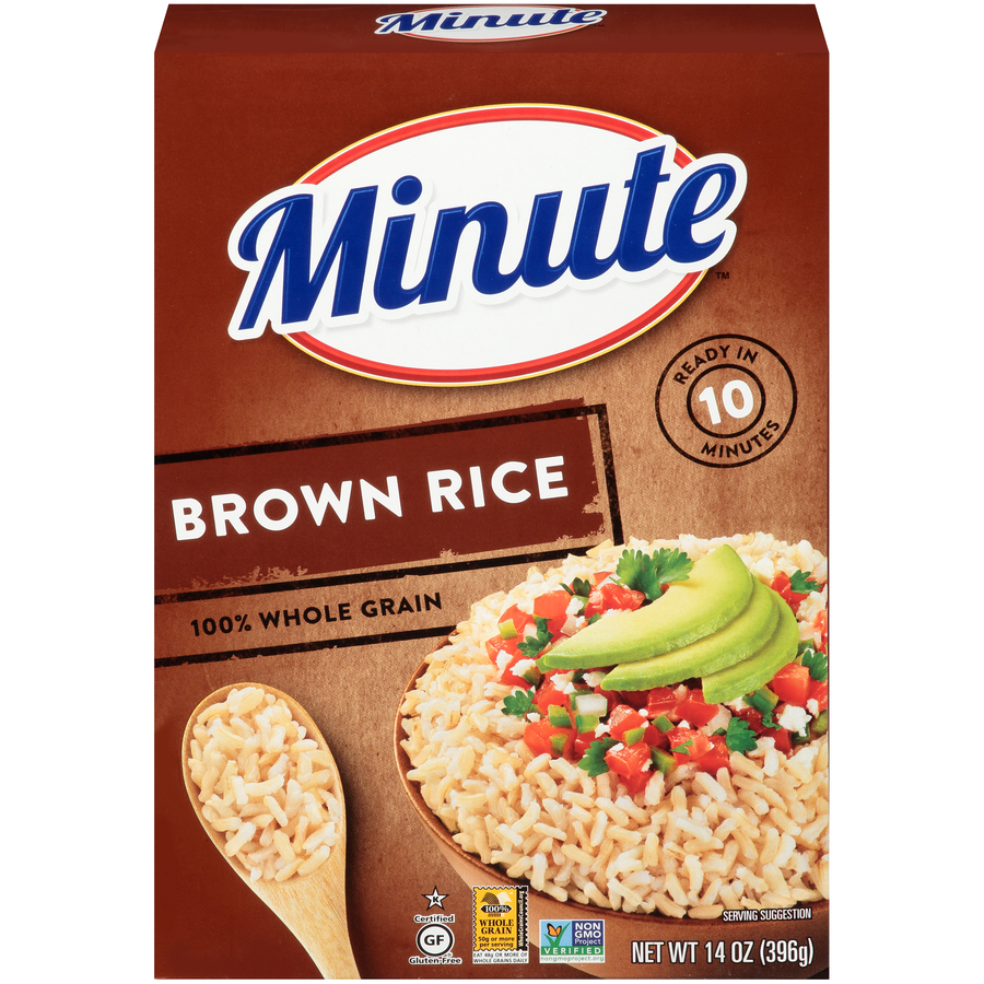 Minute Instant Whole Grain Brown Rice 14 oz Box