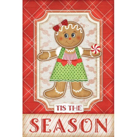 Gingerbread Girl Stretched Canvas - Jennifer Pugh (12 x