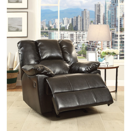 ACME Oliver Glider Recliner with Memory Foam, Dark Brown Leather-Aire by Acme Furniture
