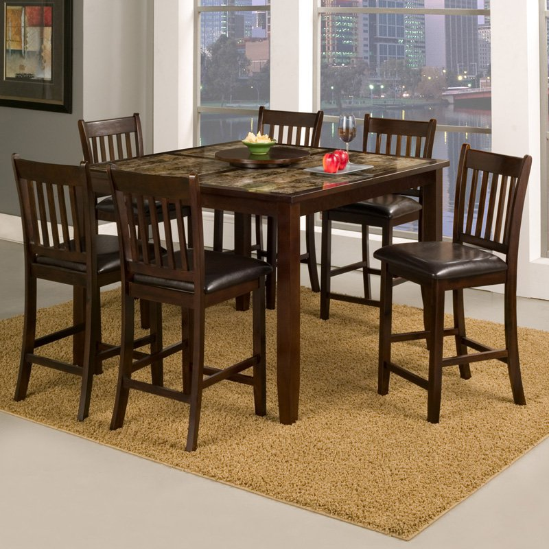 Alpine Furniture Capitola 7 Piece Counter Height Pub Table Set by Alpine Furniture Inc