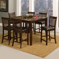 Alpine Furniture Capitola 7 Piece Counter Height Pub Table Set by Pub Tables