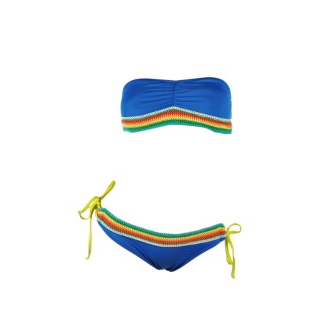 Local Motion Womens Crochet 2 Piece Bikini, Blue, X-Small (Local Motion Surf)