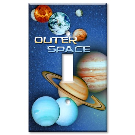 Art Plates Brand   Single Gang Toggle Wall Plate   Outer Space