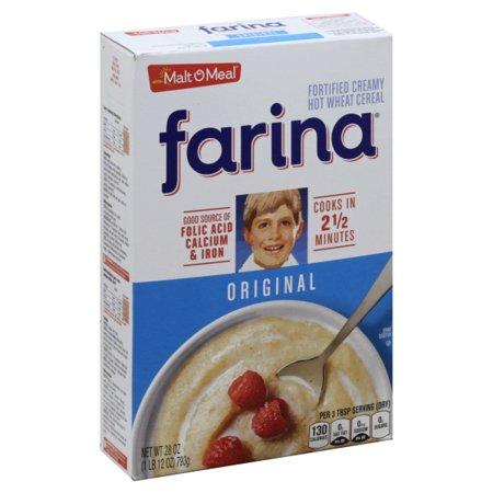 Malt O Meal Farina Fortified Creamy Hot Wheat Cereal Original, 28.0 (Creamy Wheat Cereal)